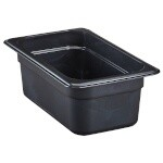 Cambro 44HP771 - High Heat Food Pan, 1/4 Size, Onyx (Case of 6)