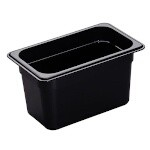 Cambro 46HP771 - High Heat Food Pan, 1/4 Size, Onyx (Case of 6)