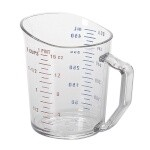 Cambro 50MCCW135 - Measuring Cup, 1 pint, Clear, Polycarbonate