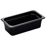 Cambro 34HP110 - High Heat Food Pan, 1/3 Size, Black (Case of 6)