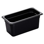 Cambro 36HP110 - High Heat Food Pan, 1/3 Size, Onyx (Case of 6)