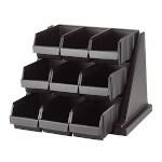 Cambro 9RS9110 - Organizer Rack with 9 bins, Black