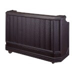 Cambro BAR730DX110 - Portable Bar, 73 inch, 7 Canisters, Black