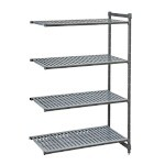 Cambro CBA184884V4580 - Shelving Extender 4 Shelves, Brushed Graphite