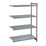 Cambro CBA184884VS4580 - Shelving Extender 4 Shelves, Brushed Graphite
