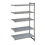 Cambro CBA184884VS5580 - Shelving Extender 5 Shelves, Brushed Graphite