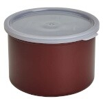 Cambro CP15195 - Crock with lid, Russet, 1.5 Quart, Round (Case of 6)
