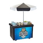 Cambro CVC55110 - Vending Cart, 1 Well, Black with Umbrella