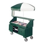 Cambro CVC724519 - Vending Cart, 4 Wells, Kentucky Green with Umbrella