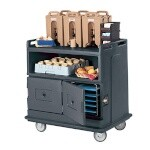 Cambro MDC24191 - Beverage Service Cart, Granite Gray