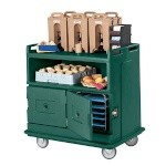 Cambro MDC24192 - Beverage Service Cart, Granite Green, Recessed Top
