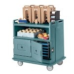 Cambro MDC24401 - Beverage Service Cart, Slate Blue, Recessed Top