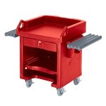 Cambro VCSWR158 - Cash Register Cart, Hot Red