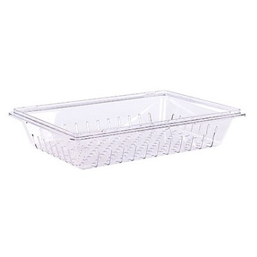 "Carlisle 1062807 - StorPlus Colander, 26""L x 18""W x 5""H, rectangular, stackable, clear, (Case of 6)"