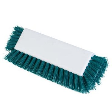 "Carlisle 4042209 - Dual Surface Scrub Brush Head (only), 10"" L block, green, (Case of 12)"