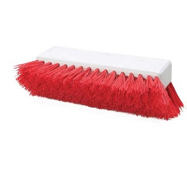 "Carlisle 4042305 - Sparta Hi-Lo Floor Brush Head (only), 10"" L x 4-1/2""W, red, (Case of 12)"
