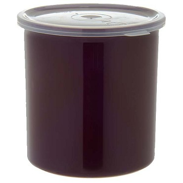 Carlisle 30101 - Classic Crock, 1.2 qt., snap-on polypropylene lid, high-gloss finish, brown, (Case of 12)