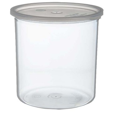 Carlisle 30207 - Classic Crock, 2.7 qt., snap-on polypropylene lid, high-gloss finish, clear, (Case of 6)
