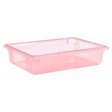 "Carlisle 10621C05 - Food Storage Box, 8-1/2 gallon, 26"" L x 18""W x 6""H, red, (Case of 6)"