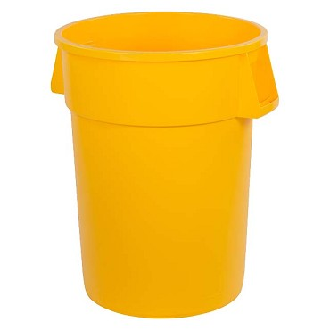"Carlisle 34104404 - Waste Container, 44 ga., 31-3/8""H x 24-1/2"" dia., rd., yellow, (Case of 3)"