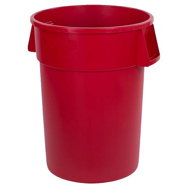 "Carlisle 34104405 - Waste Container, 44 ga., 31-3/8""H x 24-1/2"" dia., round, red, (Case of 3)"