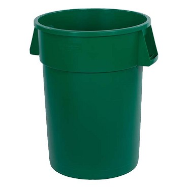 "Carlisle 34104409 - Waste Container, 44 ga., 31-3/8""H x 24-1/2"" dia., round, green, (Case of 3)"