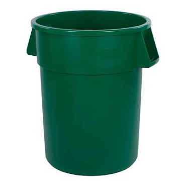 "Carlisle 34105509 - Waste Container, 55 gallon, 33""H x 26-1/2"" dia., round, green, (Case of 2)"
