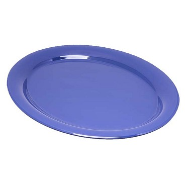 "Carlisle 4308014 - Platter, 14"" x 10-1/2"", oval, Durus, Ocean blue, (Case of 12)"