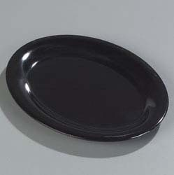 "Carlisle 4308603 - Platter, 10"" x 7-1/4"", oval, Durus, black, (Case of 24)"
