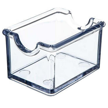 "Carlisle 455007 - Sugar Packet Caddy, 3""L x 3""W x 2""H, holds 20 packets, clear, (Case of 24)"