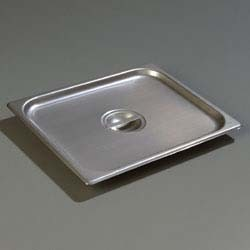 Carlisle 607120C - DuraPan Steam Table Pan Cover, 1/2-size, solid, flat, lift-off, (Case of 6)