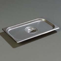 Carlisle 607130C - DuraPan Steam Table Pan Cover, 1/3-size, solid, flat, lift-off, (Case of 6)