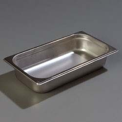 "Carlisle 607132 - DuraPan Steam Table Pan, 1/3-size, 2.6 qt., 3"" deep, (Case of 6)"