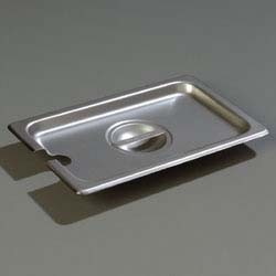Carlisle 607140CS - DuraPan Steam Table Pan Cover, 1/4 size, slotted, flat, lift-off, (Case of 6)