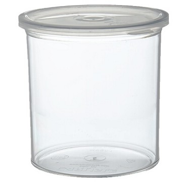 Carlisle 30107 - Crock, 1.2 qt., snap-on lid, thick-walled, SAN, clear, (Case of 12)
