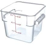 Carlisle 1072207 - StorPlus Food Storage Container, clear, 6 quart, square, polycar