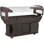 Carlisle 771101 - Food Bar, 6 ft., brown, holds 6 full size food pans, o