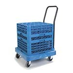 Carlisle C2236H14 - Opticlean Glass Rack Dolly, 350 lb. capacity, blue