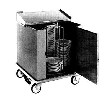 Carter-Hoffmann CD252 - Unheated Dish Storage Cart, rotary design, enclosed type