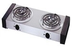 Boswell CB-5 - Double Burner Electric Range, 1500 watts