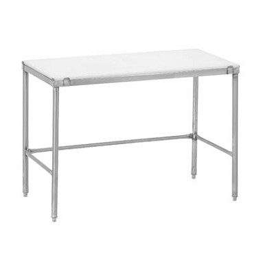 "Channel CT260 - Work Table with poly top, 60""W x 24""D, 3/4"" thick white thermoplastic reversible top"