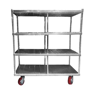 "Channel FTDR-4 - Tray Drying Rack, mobile, 63""W x 30""D x 60"" H"