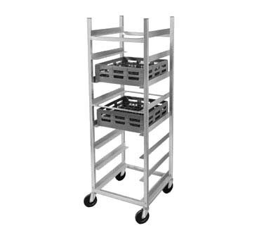 "Channel GRR-6 - Utility Glass Rack Cart, 70""H, 6"" spacing"