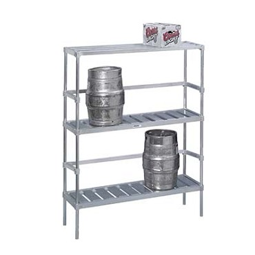 KAR93 Channel Manufacturing - Keg Storage Rack, 10 Keg Cap., 68 x 93 x 17in.