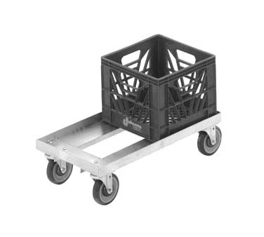 "Channel MC1338 - Utility Dolly, Milk Crate, double stack 13"" x 19"" crate"