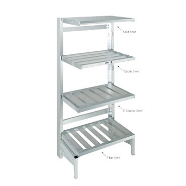 "Channel CSURL - Shelving Upright, 72""H, for cantilevered shelves"