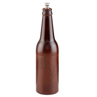 Chef Specialties 9050 - Beer Bottle Pepper Mill with Walnut Finish, 9-1/2 in.