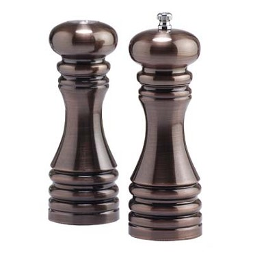Chef Specialties 90070 - Acrylic Pepper Mill/Salt Shaker Set, 7 in.