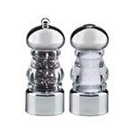Chef Specialties 29160 - Acrylic Lori Salt Shaker/Pepper Mill Set, 5-1/2 in.
