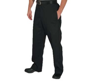 John Ritzenthaler P034BK-XL - Chef's Trousers, X-large, 4 pockets, black